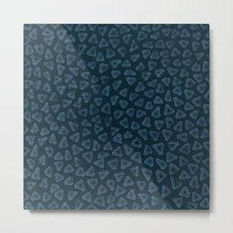 Tiny Triangles in Beach Blue Metal Print