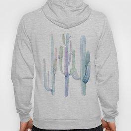 Pastel watercolor tall cacti | pale watercolor cactus Hoody