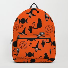 Witchy Halloween Print Backpack