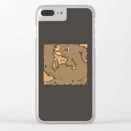 If I fits, I sits and sleeps Clear iPhone Case