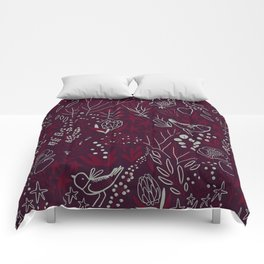 Burgundian winter holiday mood. Comforters