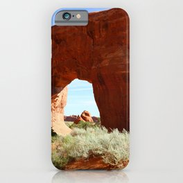 At The End Of The Trail - Pine Tree Arch iPhone Case