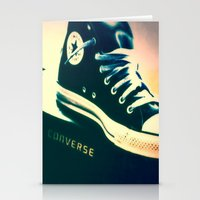 sneakers Stationery Cards featuring Converse Sneakers by Tyland Creations