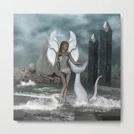 Beautiful fairy in the dreamworld Metal Print