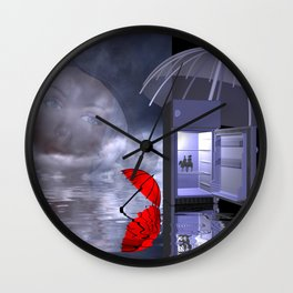 dreaming of the sun Wall Clock