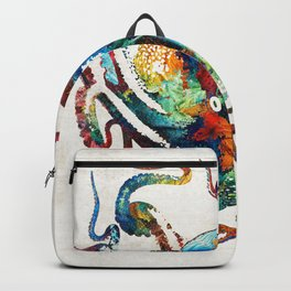 Colorful Octopus Art by Sharon Cummings Backpack