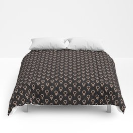 Fearless Female Black Comforters