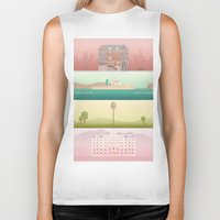 wes anderson Biker Tanks featuring A Wes Anderson Collection by George Townley