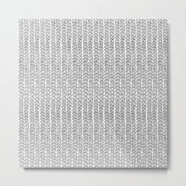 Knit Outline Metal Print