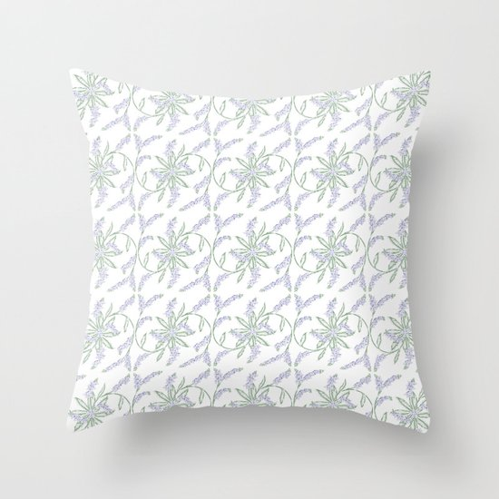 Forget-me-not pattern Throw Pillow