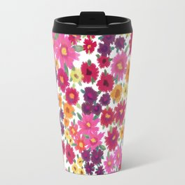 Impressionist Floral Travel Mug