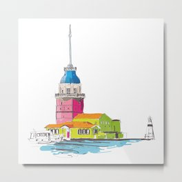 Maiden's Tower, Istanbul Metal Print