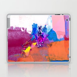 polo abstract red blue Laptop & iPad Skin