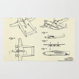 Airplane H R Hughes-1944 Rug