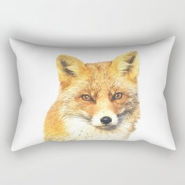 Fox Portrait Rectangular Pillow