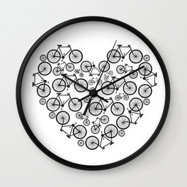 Black and White - Love Bikes Wall Clock