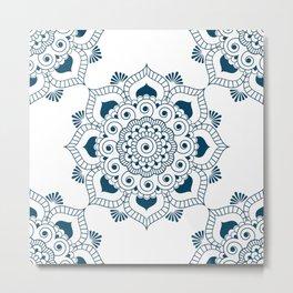 Mandala in Indian Ink 2 Metal Print