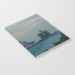 Detroit cityscape Notebook