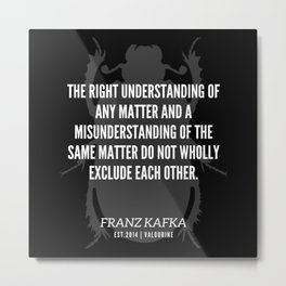86   |  Franz Kafka Quotes | 190517 Metal Print