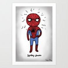 Super Cute Heroes: Spidey Senses Art Print