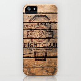 Deadringer's Fight Club iPhone Case
