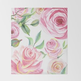 Roses Water Collage Throw Blanket