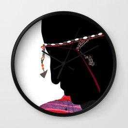 Maasai Man Wall Clock