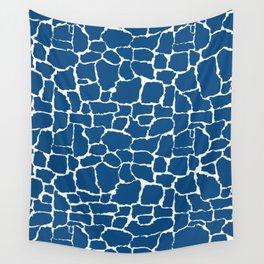 Classic Blue Giraffe Wall Tapestry