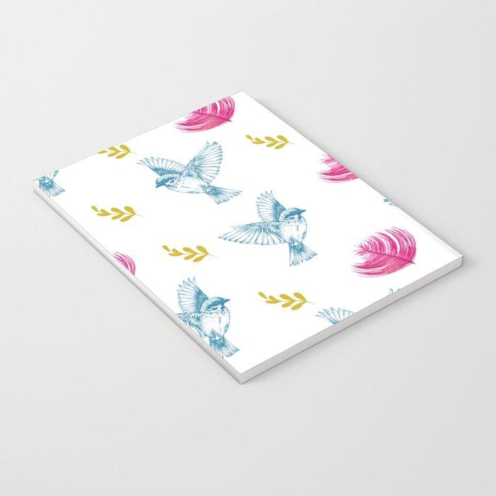 Blue Bird Pattern #society6 #decor #buyart Notebook