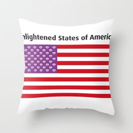 Enlightened States of America Throw Pillow