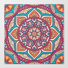 Mandala flower Canvas Print
