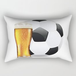 Beer and Soccer Ball Rectangular Pillow