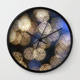 Crystal lights Wall Clock