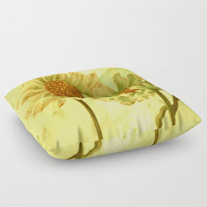 flowers in love Floor Pillow