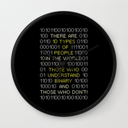Those Who Understand Binary - Programmer Coder Wall Clock