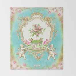 French Baroque Patisserie Tea Throw Blanket