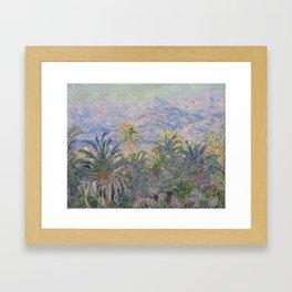 Palm Trees at Bordighera Framed Art Print