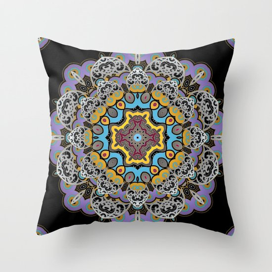 Soothing Mandala Throw Pillow