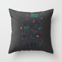 audi Throw Pillows featuring AFK by Hector Mansilla