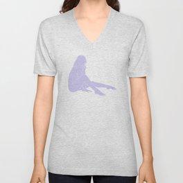 Lilac figure illustration - Bret Unisex V-Neck