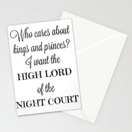 The High Lord Stationery Cards