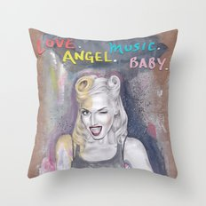 Heroine (Gwen) Throw Pillow