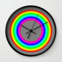 12 color rainbow donut Wall Clock