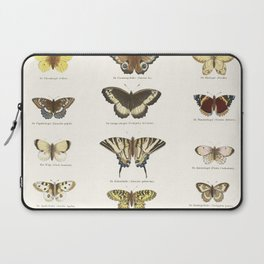 Vintage Butterfly Chart Laptop Sleeve