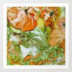 Summer in Orange Art Print