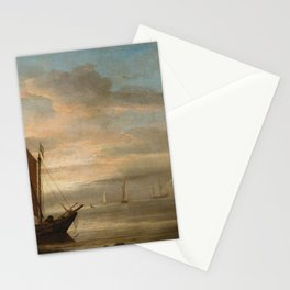 Willem van de Velde - Sunset at Sea from the workshop Stationery Cards