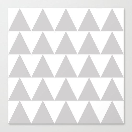 Grey Triangle /// www.pencilmeinstationery.com Canvas Print