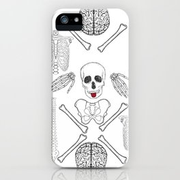 band of skull - positive iPhone Case