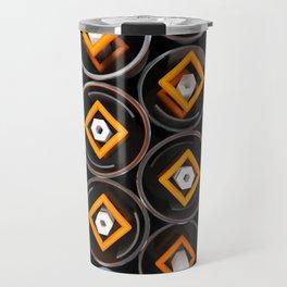 Metal tubes, hexagons and glass Travel Mug