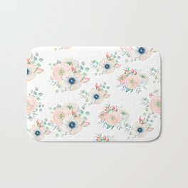 Dog Rose Pattern 2 Bath Mat